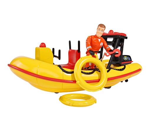 bateau neptune avec figurine sam le pompier de smoby. Black Bedroom Furniture Sets. Home Design Ideas