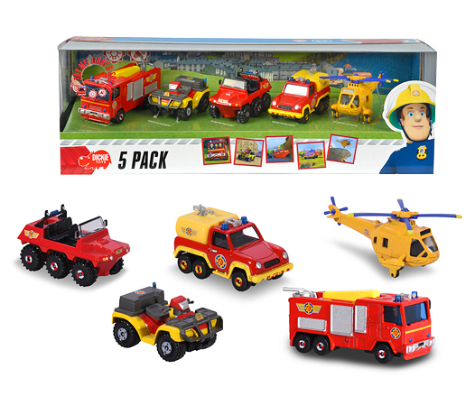 véhicule tout-terrain et remorque DICKIE POMPIER SAM 3er Pack Phoenix